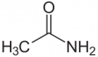 "Acétamide, structure. (fichier Commons : ""Acetamid.svg"") (domaine public) NEUROtiker, 2008"