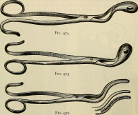 "Forceps chirurgicaux. (fichier Commons : ""Modern_surgery,_general_and_operative_(1919)_(14761310056)"") (domaine public) Archive internet, 1919"