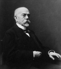 "Koch Robert (1843-1910). In National Library of Medicine. (fichier Wikimedia Commons : ""Robert_Koch_NLM"") (domaine public) Inconnu, date inconnue"
